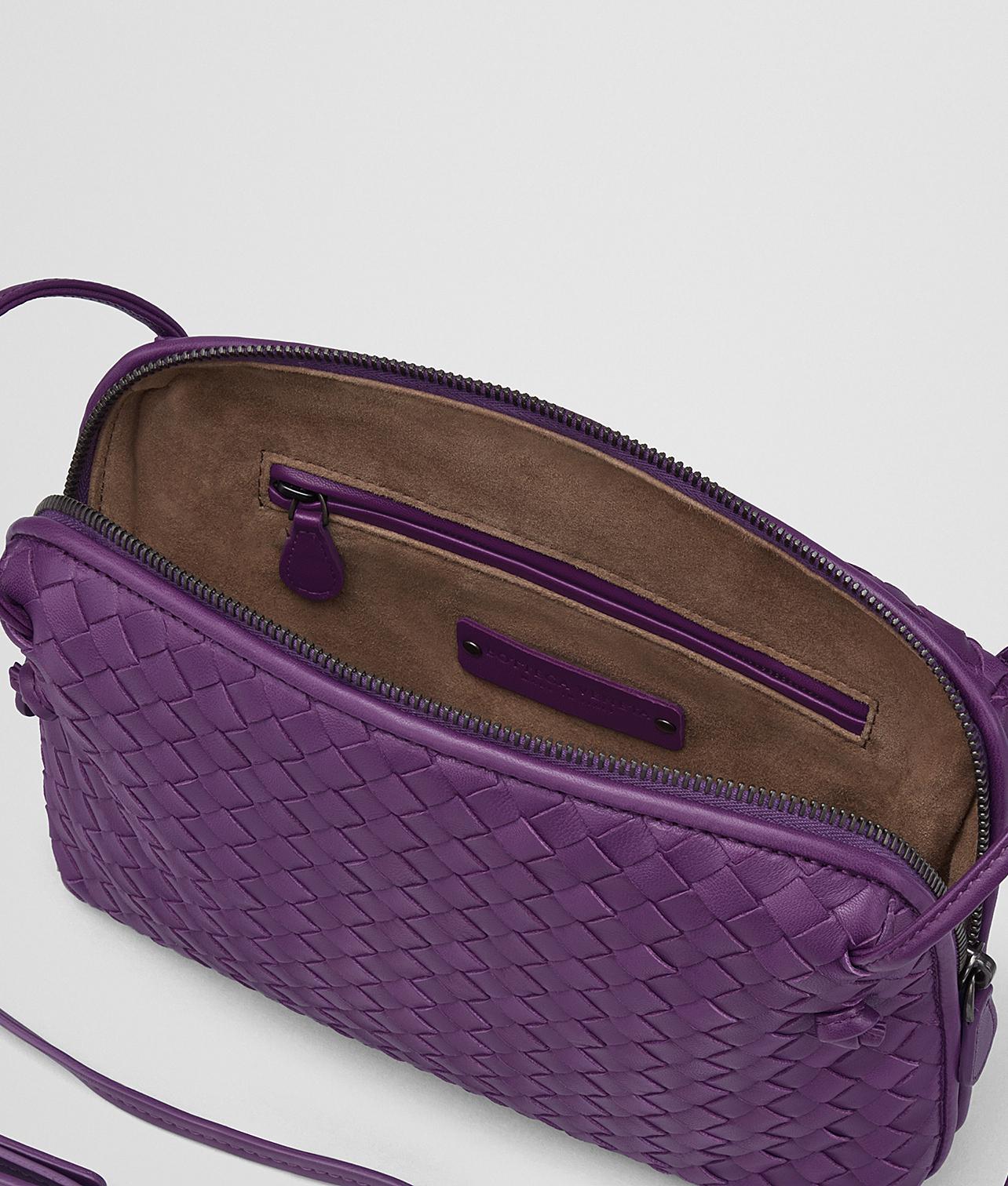 18ab01f664 Lyst - Bottega Veneta Monalisa Intrecciato Nappa Messenger in Purple