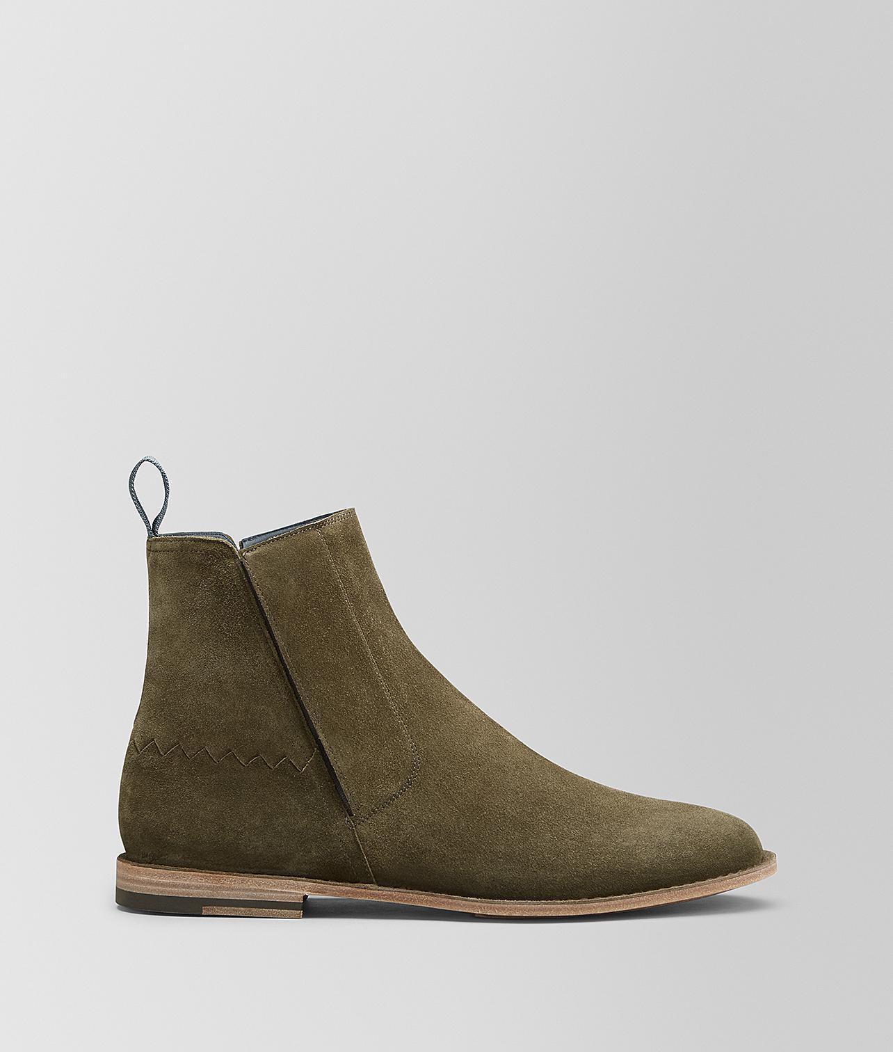 d7a9449679d Lyst - Bottega Veneta Voortrekking Jag Boot In Suede in Green for Men