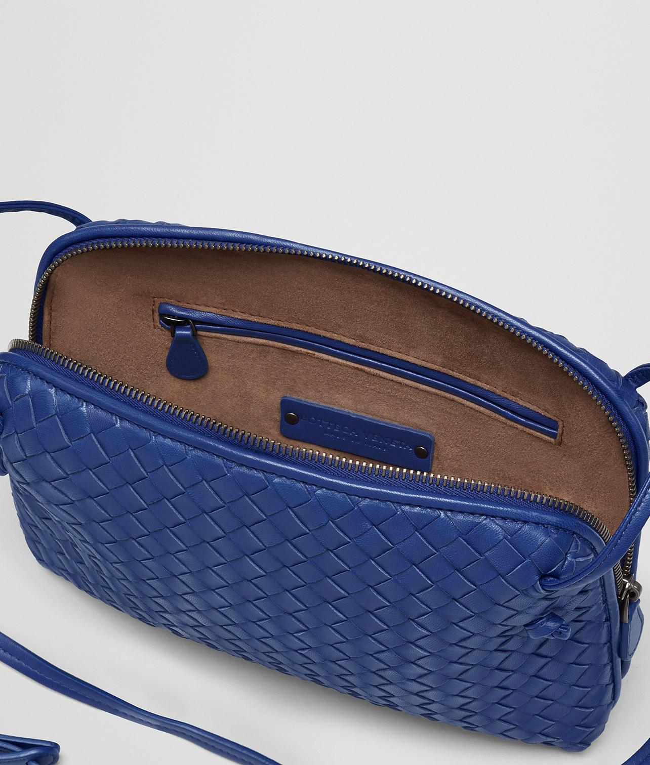 ae8f0af8883 Lyst - Bottega Veneta Cobalt Intrecciato Nappa Nodini Bag in Blue