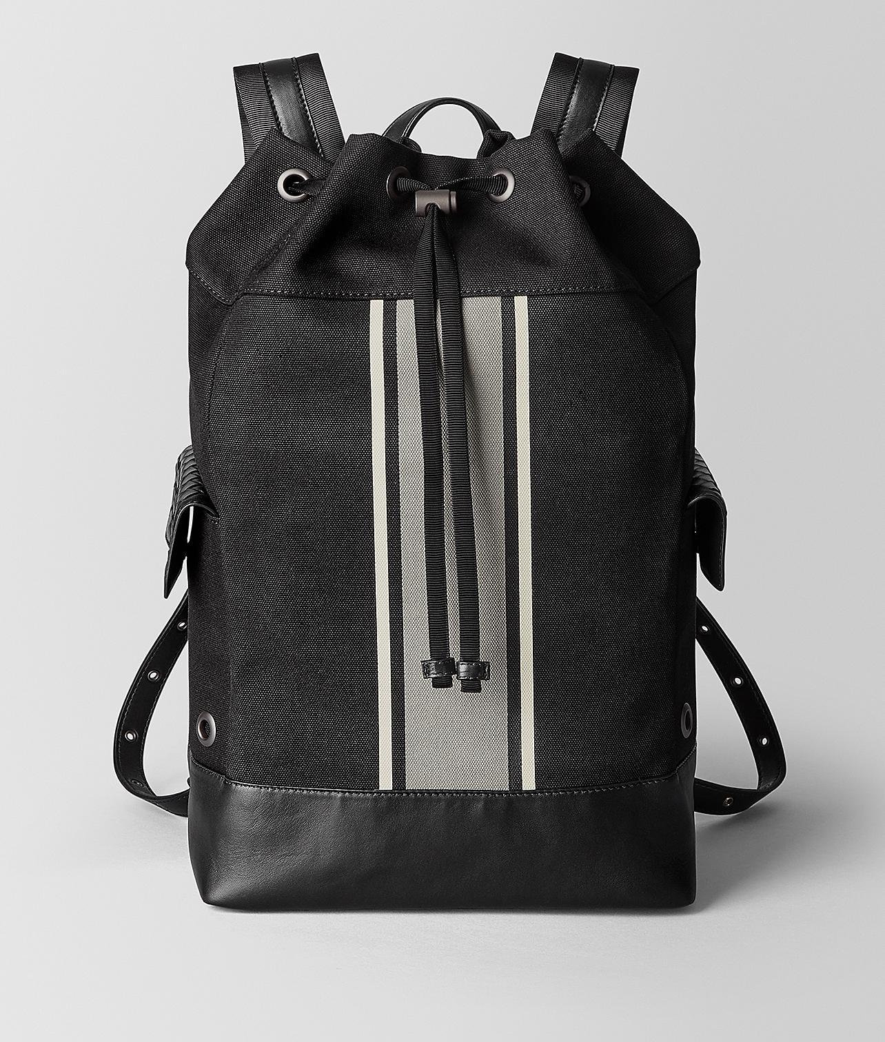 d6c3f2b7bfc3 Bottega Veneta Nero cement Canvas Backpack in Black for Men - Lyst