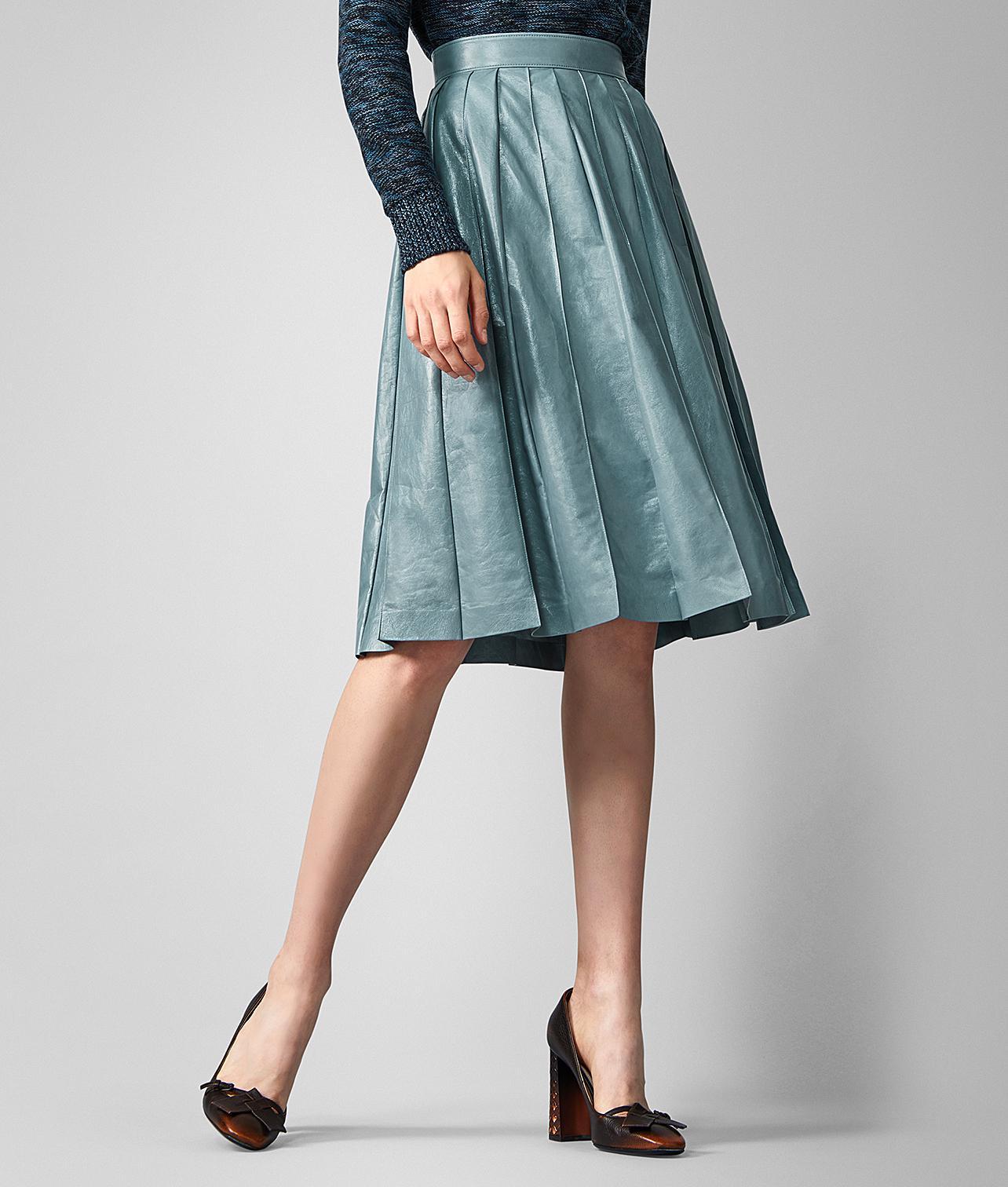 19a8d71829 Bottega Veneta Skirt In Lamb in Blue - Lyst