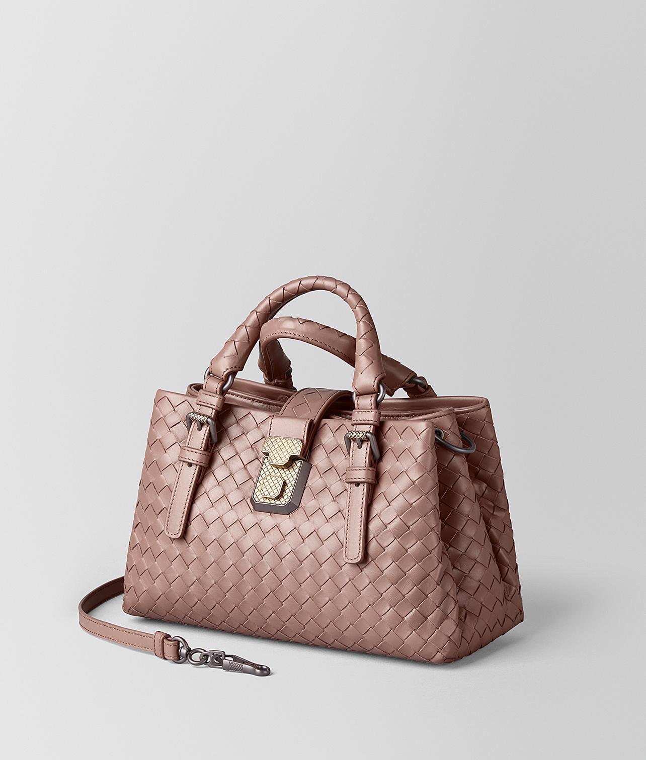 ad743e7fe1 Bottega Veneta Mini Roma Bag In Intrecciato Calf Leather - Lyst