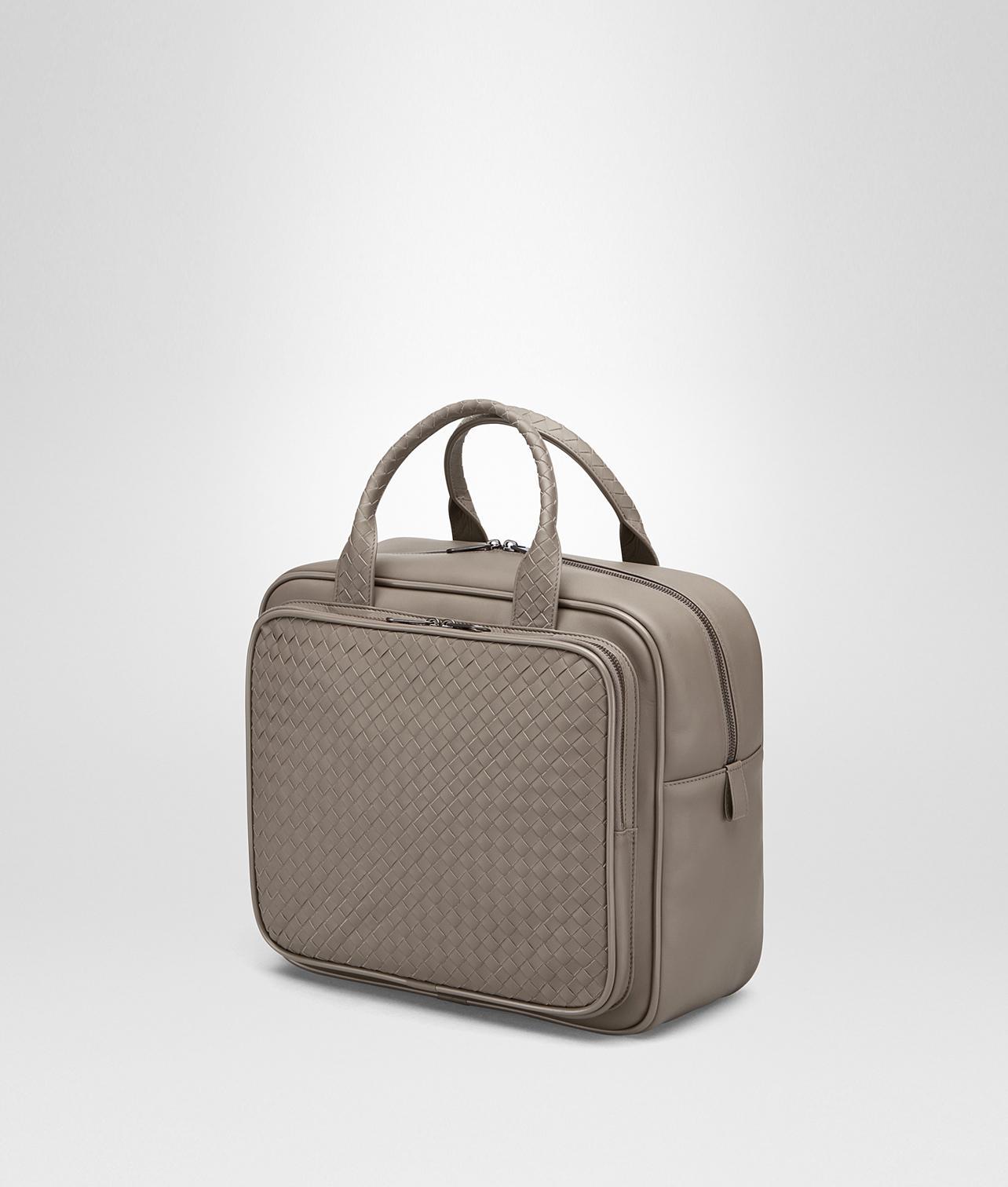 d4ca5313ffbf Lyst - Bottega Veneta Steel Intrecciato Briefcase in Gray
