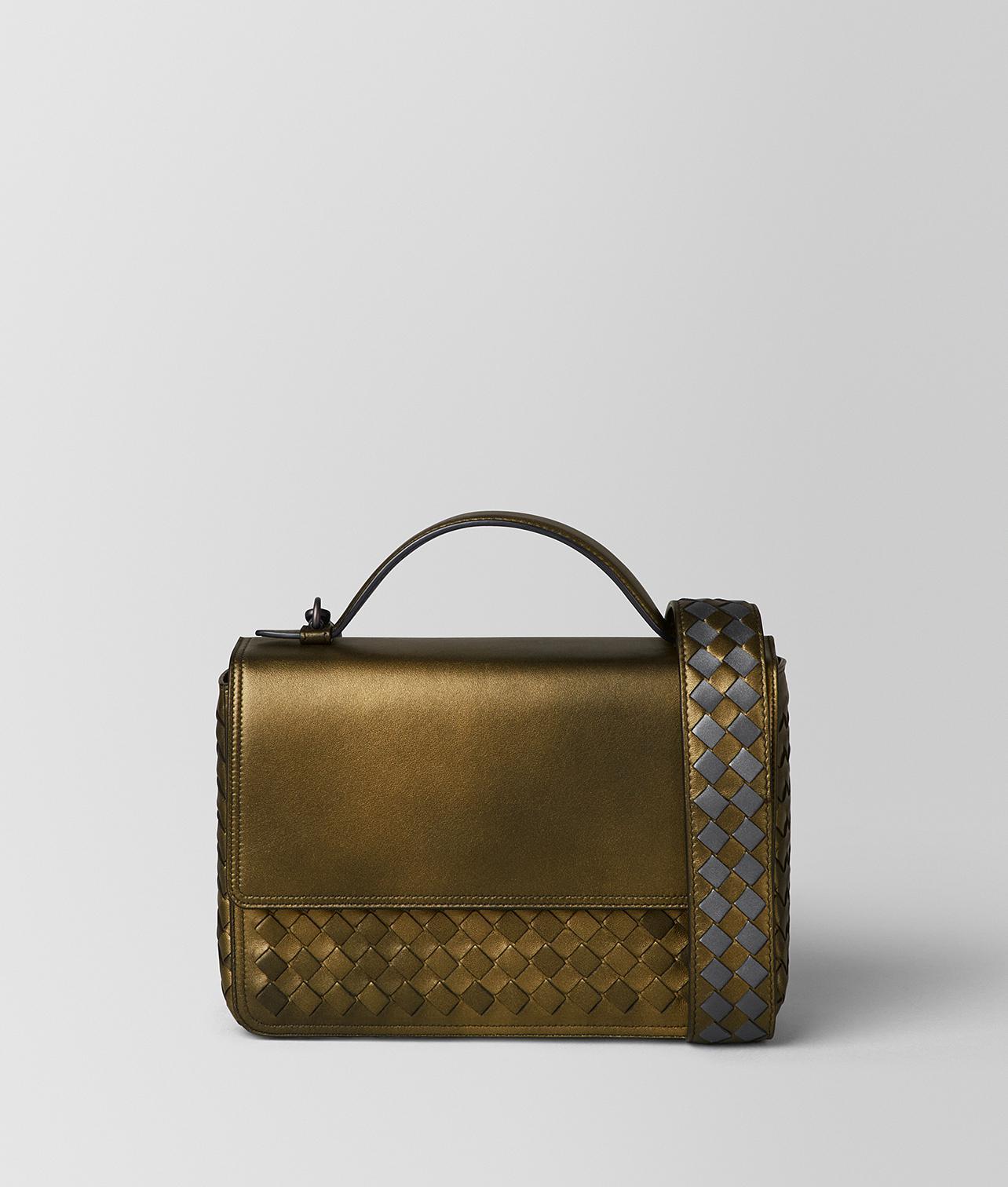 27ac0cc9d8e6 Lyst - Bottega Veneta Dark Gold Intrecciato Nappa Alumna Bag in Metallic