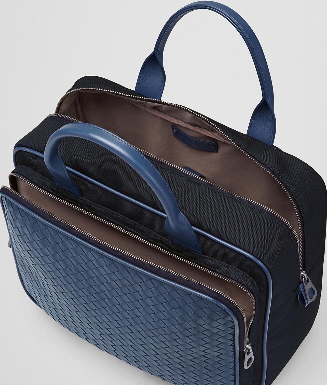 d8ee40334f49 Bottega Veneta - Blue Travel Bag In Tourmaline Technical Canvas And Pacific  Intrecciato Calf - Lyst. View fullscreen