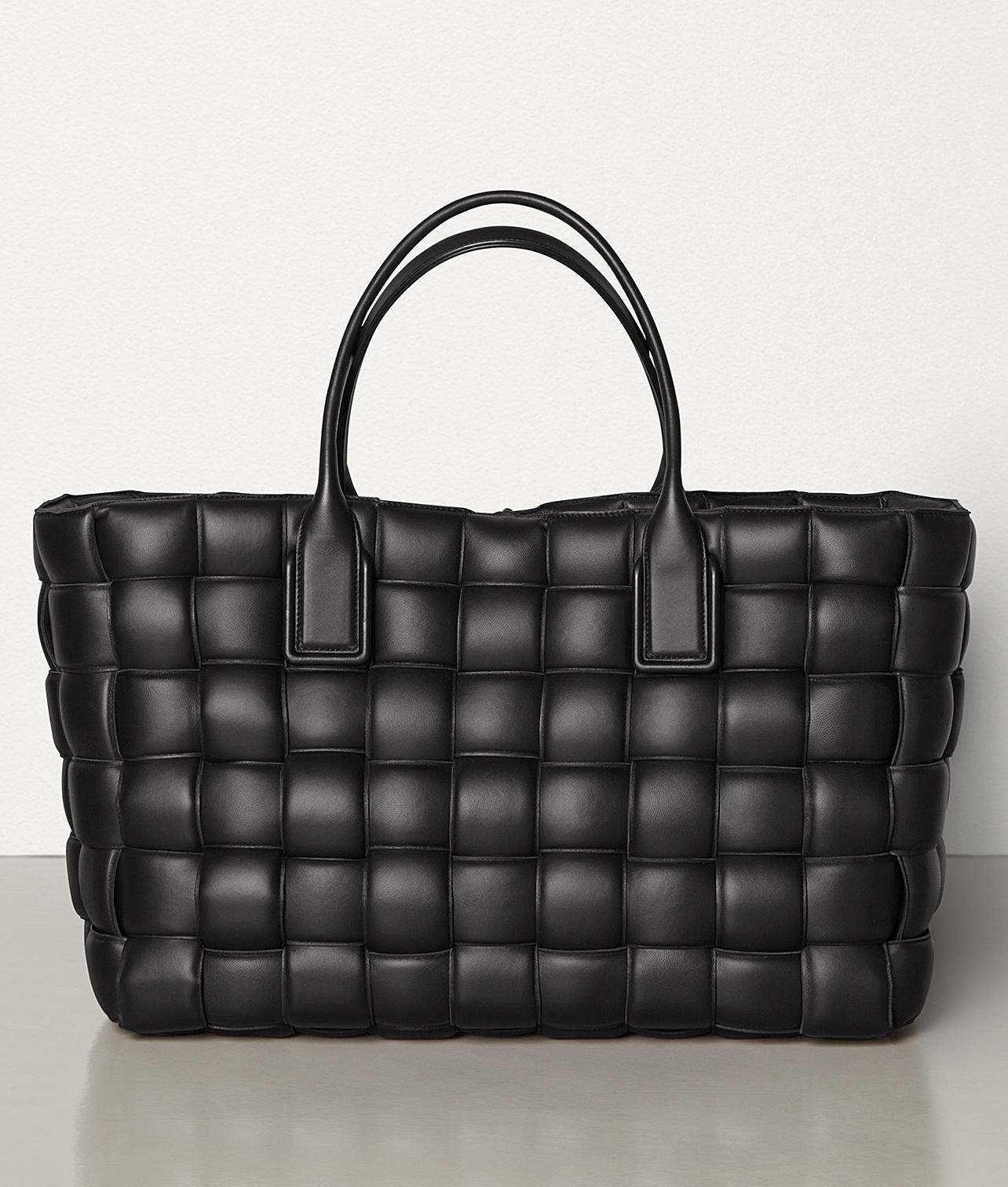 Bottega Veneta Black Intrecciato Woven Nappa Leather Maxi