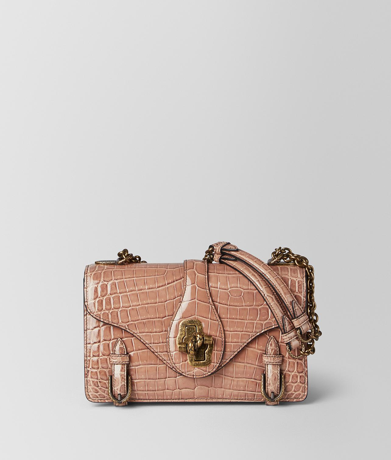 1923ab9397e3 Bottega Veneta. Women s Dahlia Crocodile City Knot Bag
