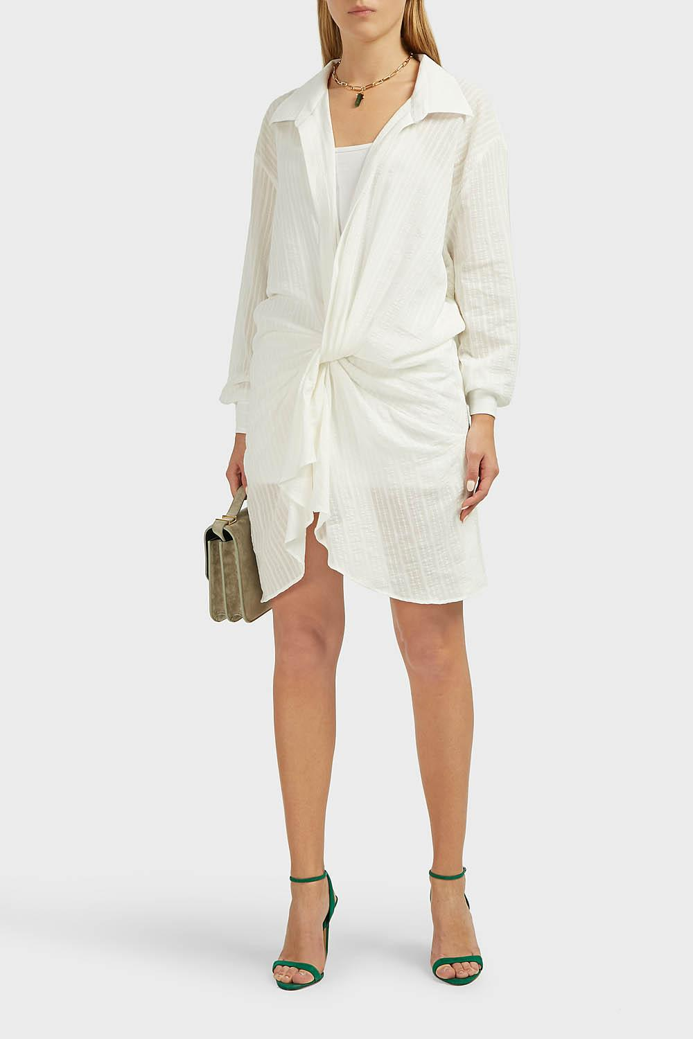840175dfec Lyst - Jacquemus Alassio Gathered-knot Dress in White