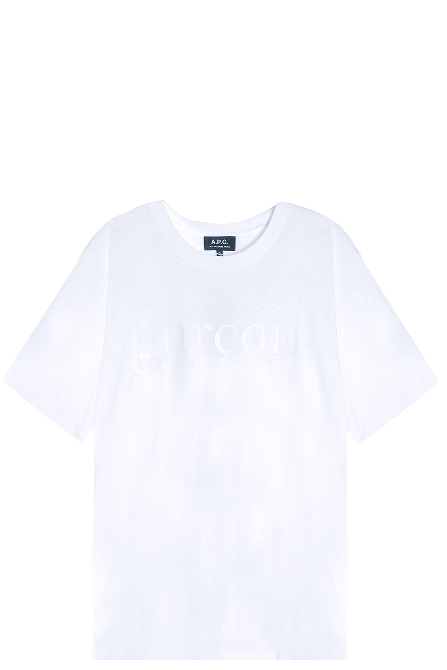 A p c garcon t shirt in white lyst for Apc white t shirt