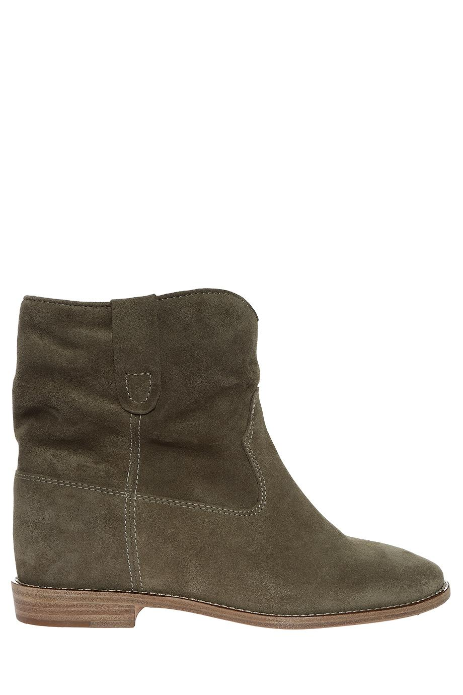 201 toile marant crisi suede ankle boots in multicolor