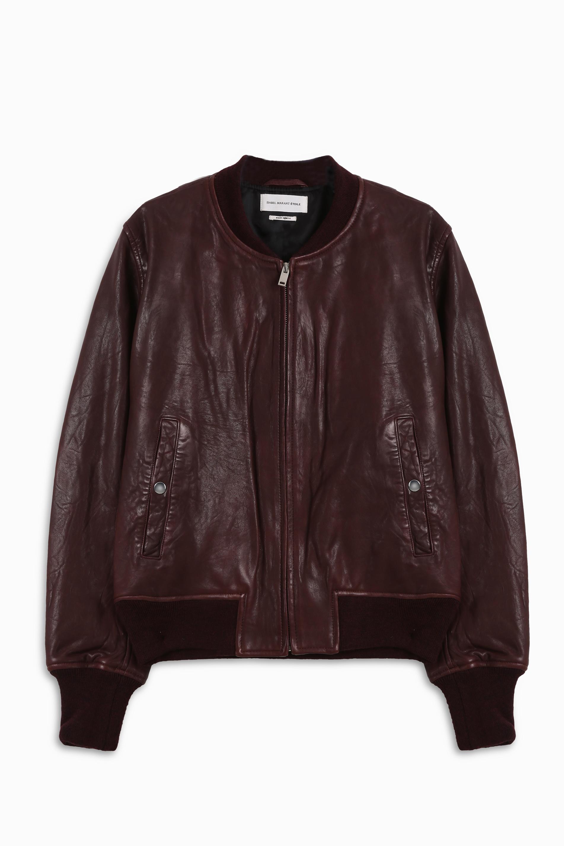 feab18443 Étoile Isabel Marant Red Brantley Leather Bomber Jacket