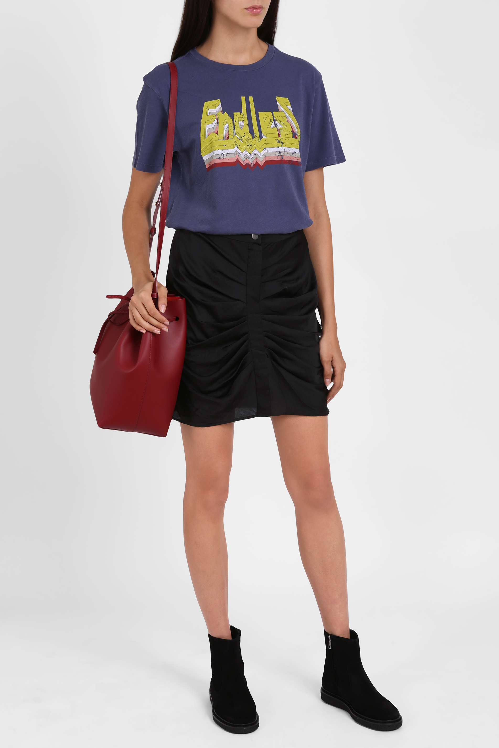 Toile isabel marant dewel endless t shirt in blue lyst for Isabel marant t shirt sale