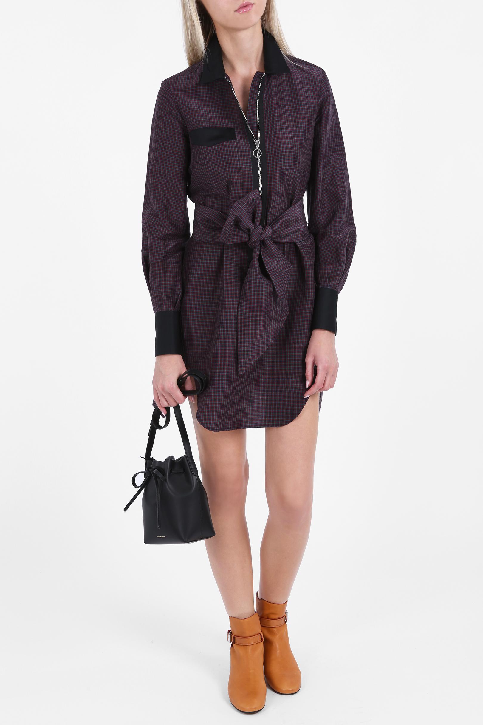 Isabel marant check shirt dress in purple lyst for Isabel marant shirt dress