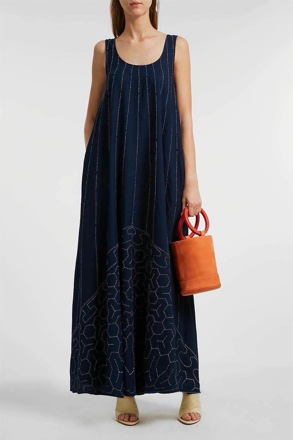 a7cf5546f39 Lyst - Elizabeth and James Oasis Embroidered Cotton Maxi Dress in Blue