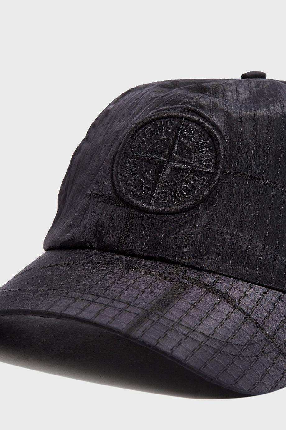 Stone Cap Detail : Lyst stone island metallic detail cap in black for men