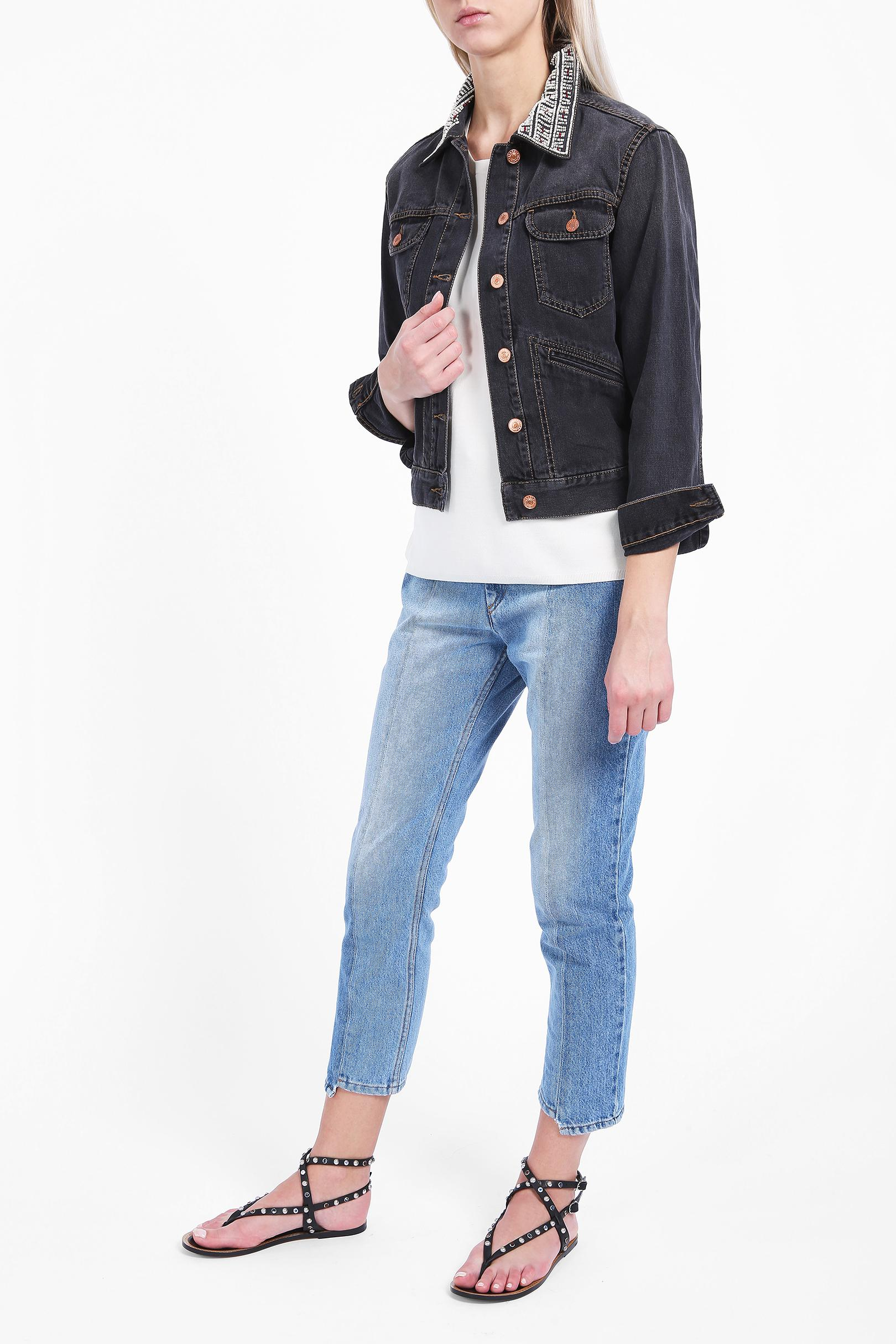 96b7fbeb44 Lyst - Étoile Isabel Marant Christa Denim Jacket in Blue