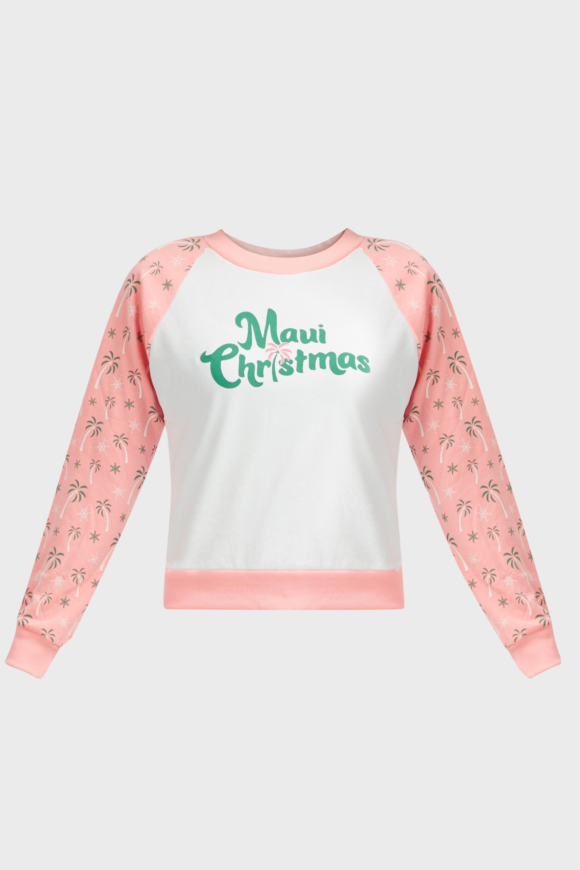 Wildfox Christmas.Wildfox Fiona Maui Christmas Sweatshirt In Pink Lyst