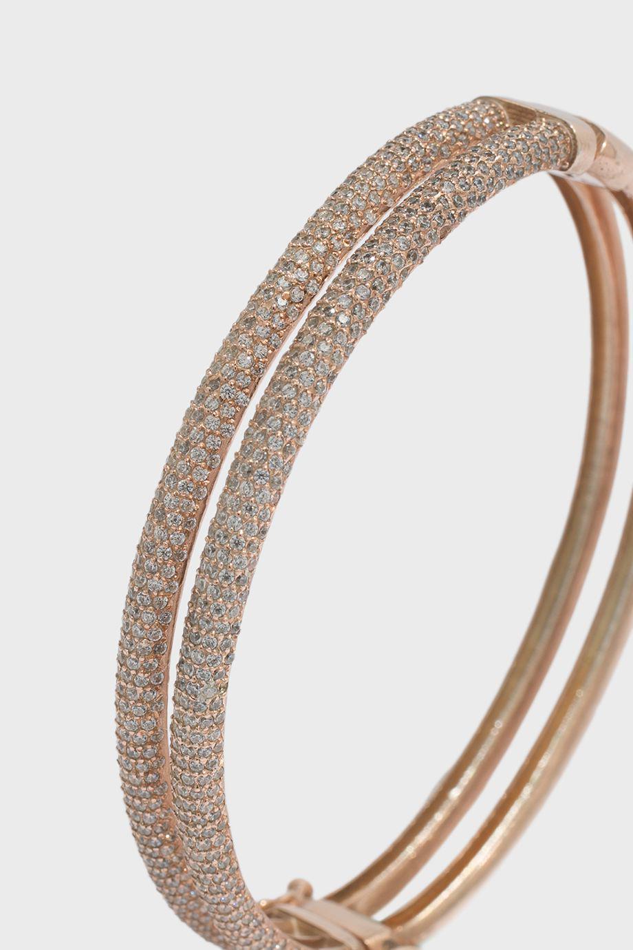 Maha Lozi Wave encrusted bracelet - Metallic 87P0s8hIw