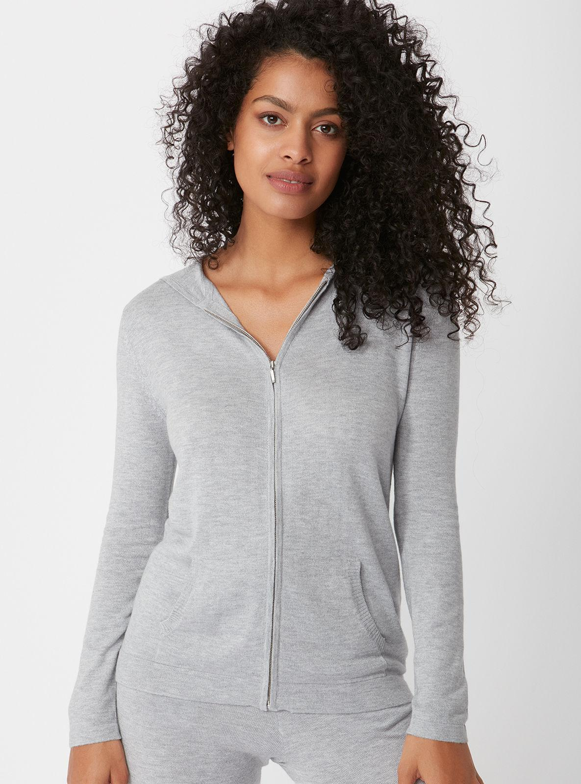 61fa17a1b2 Lyst - Boux Avenue Cashmere Blend Hoody in Gray