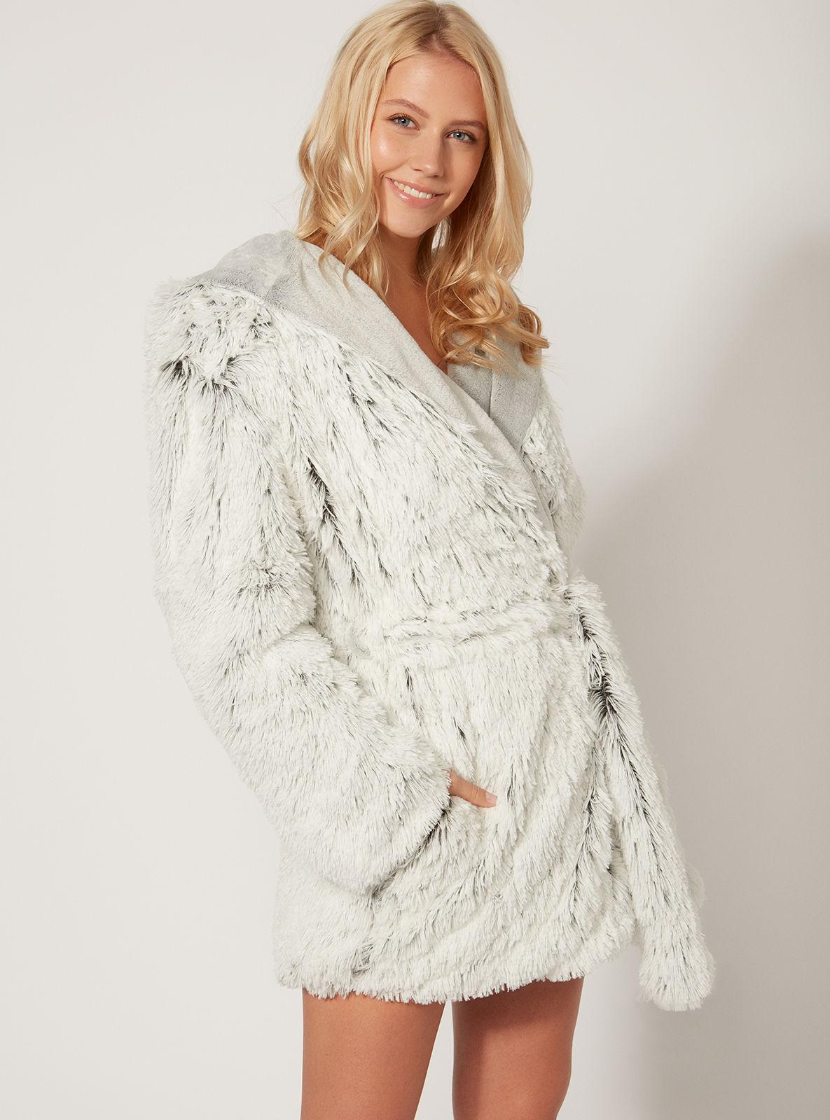 Lyst Boux Avenue Luxe Yeti Dressing Gown In Metallic