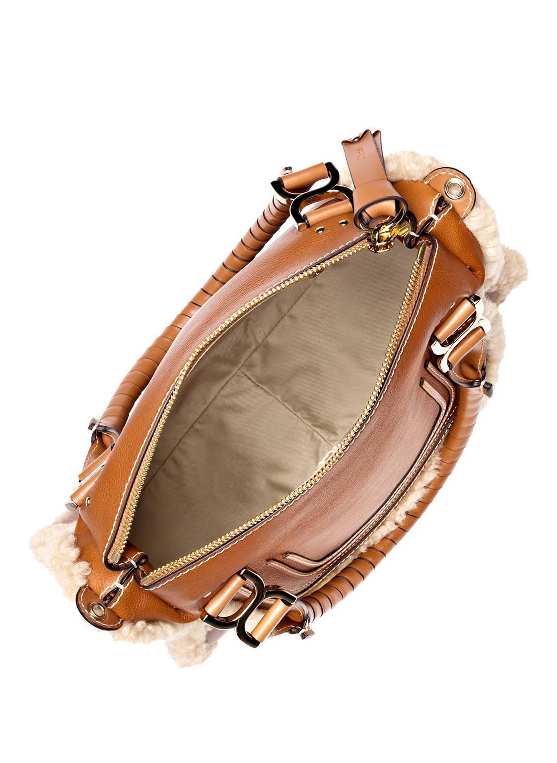 Chloé Handtasche MARCIE MEDIUM mit Echtfellbesatz jT379
