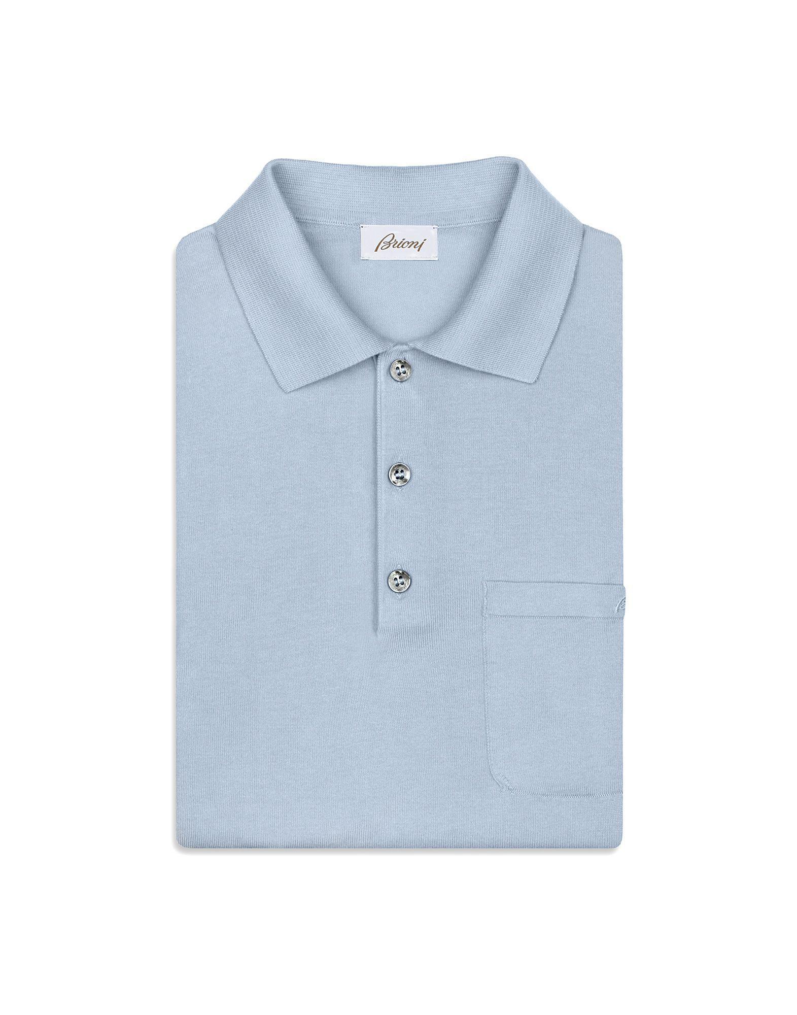 412c586ef Lyst - Brioni Light Blue Polo Shirt in Blue for Men