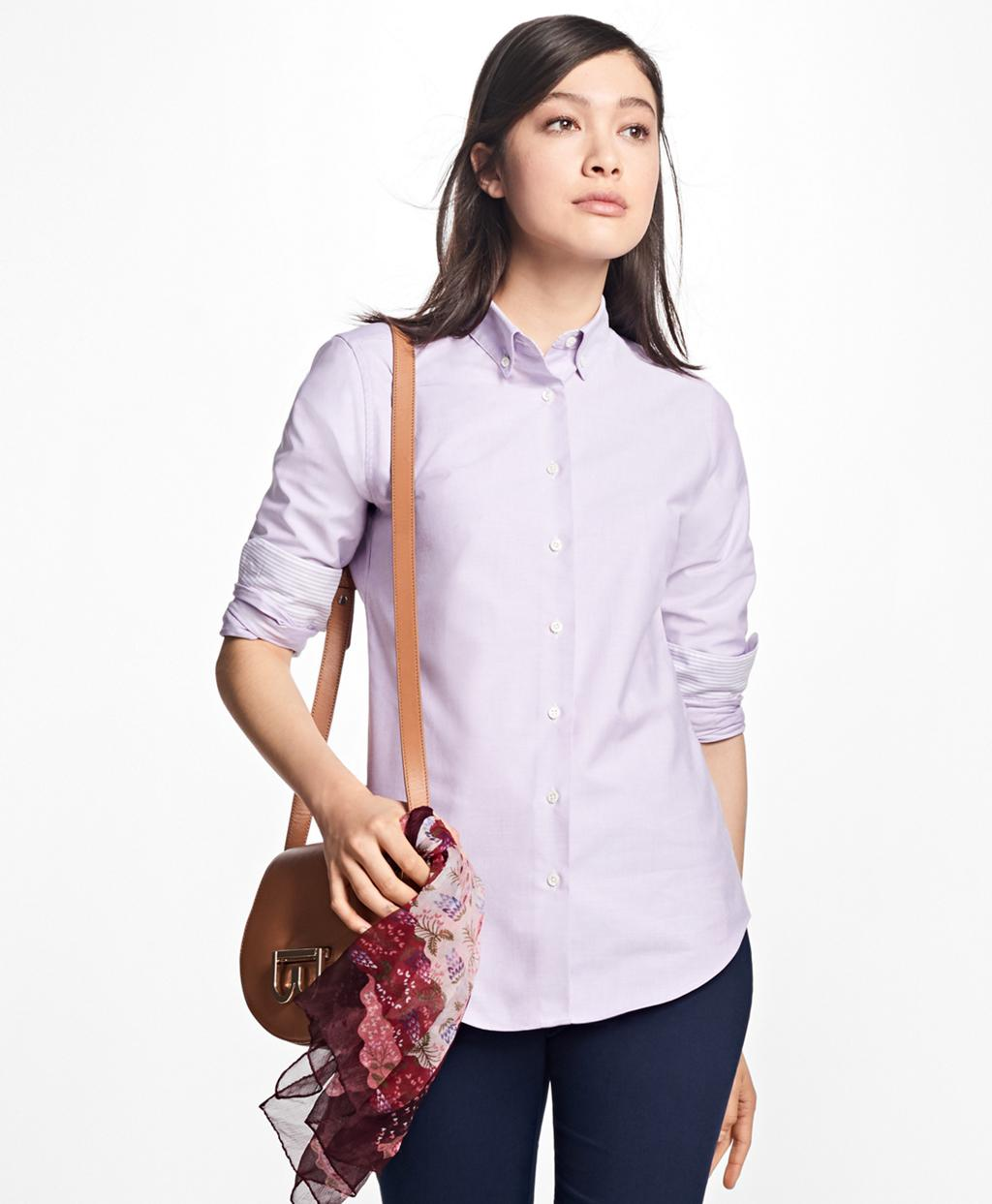 Brooks brothers classic fit supima cotton oxford button for Brooks brothers garland shirt factory