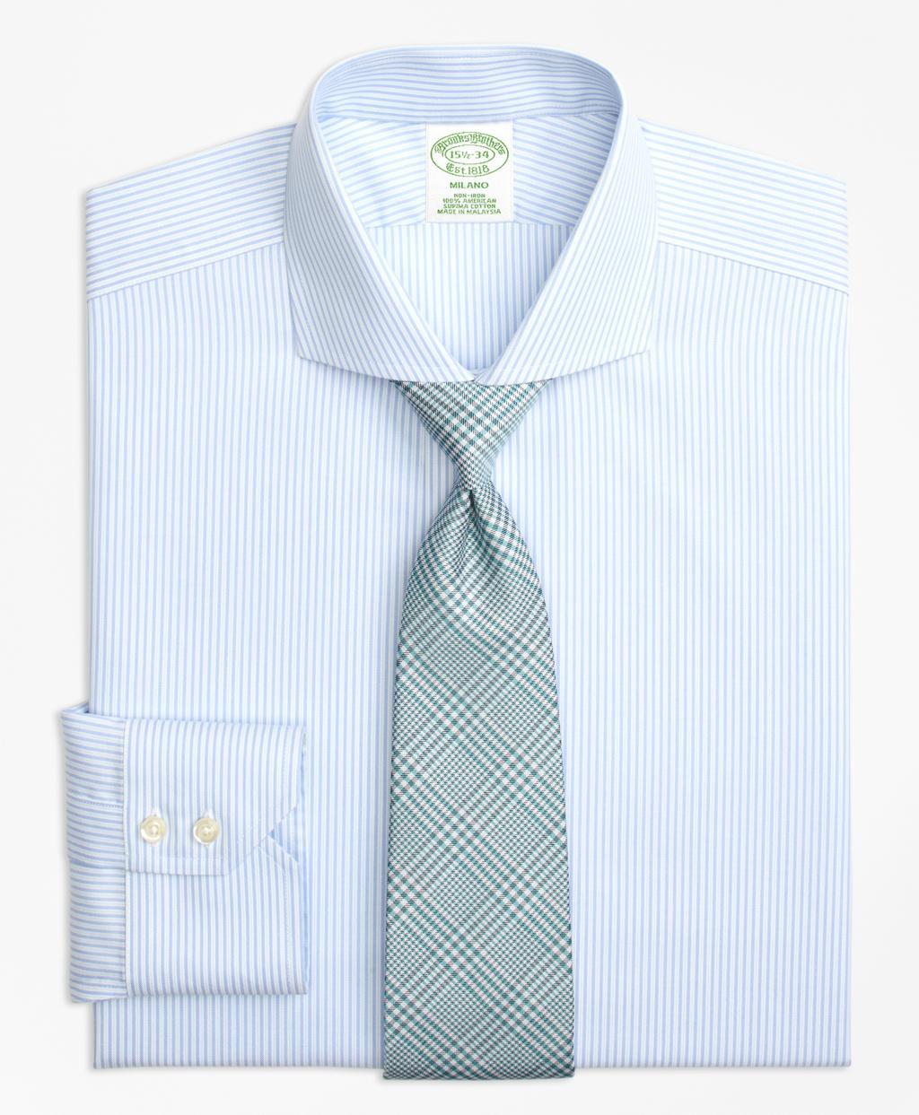 Lyst brooks brothers milano slim fit dress shirt non for Brooks brothers dress shirt fit