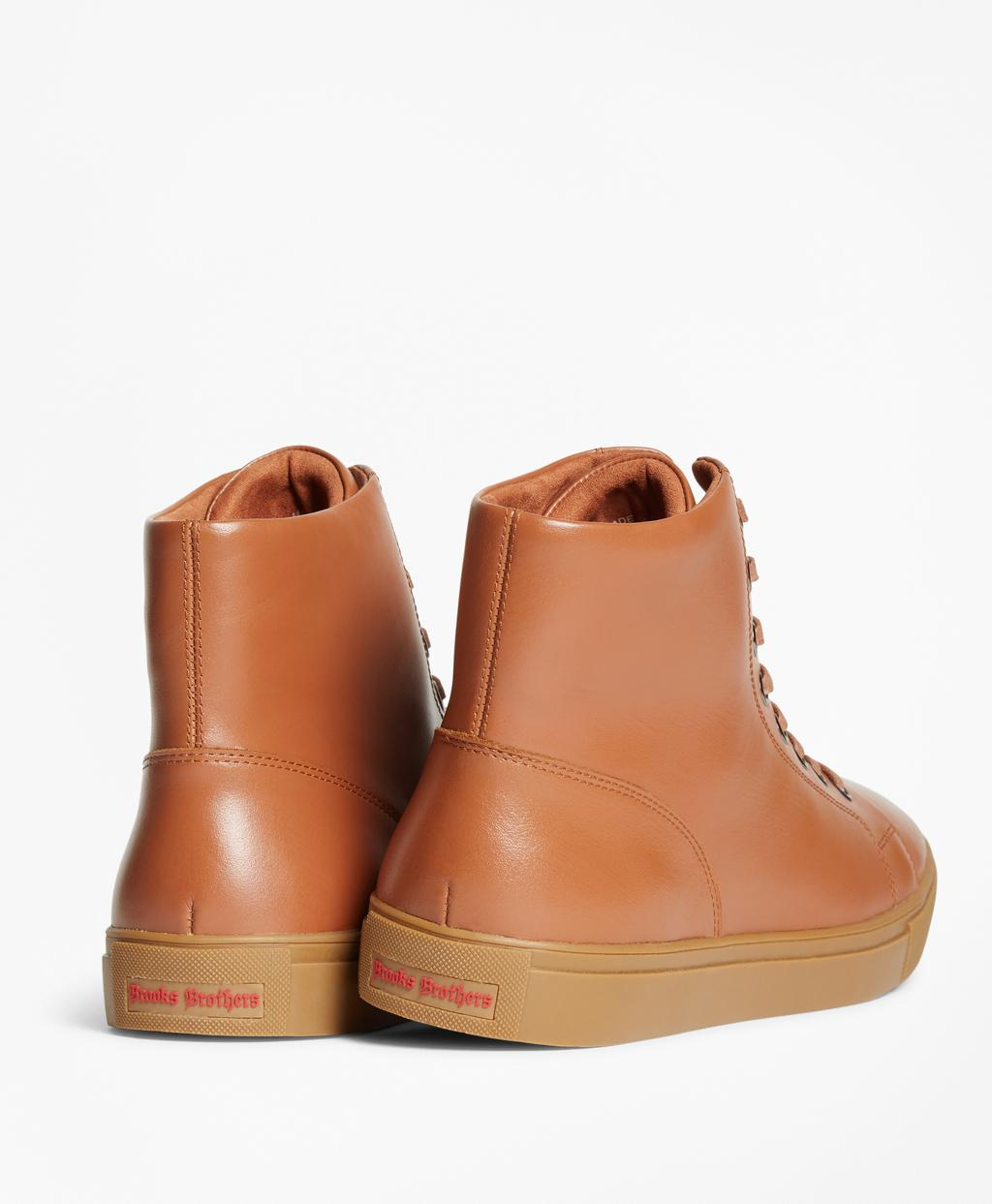 low cost nice cheap look good shoes sale Brooks Brothers Leather High-top Sneakers in Cognac (Brown) for ...