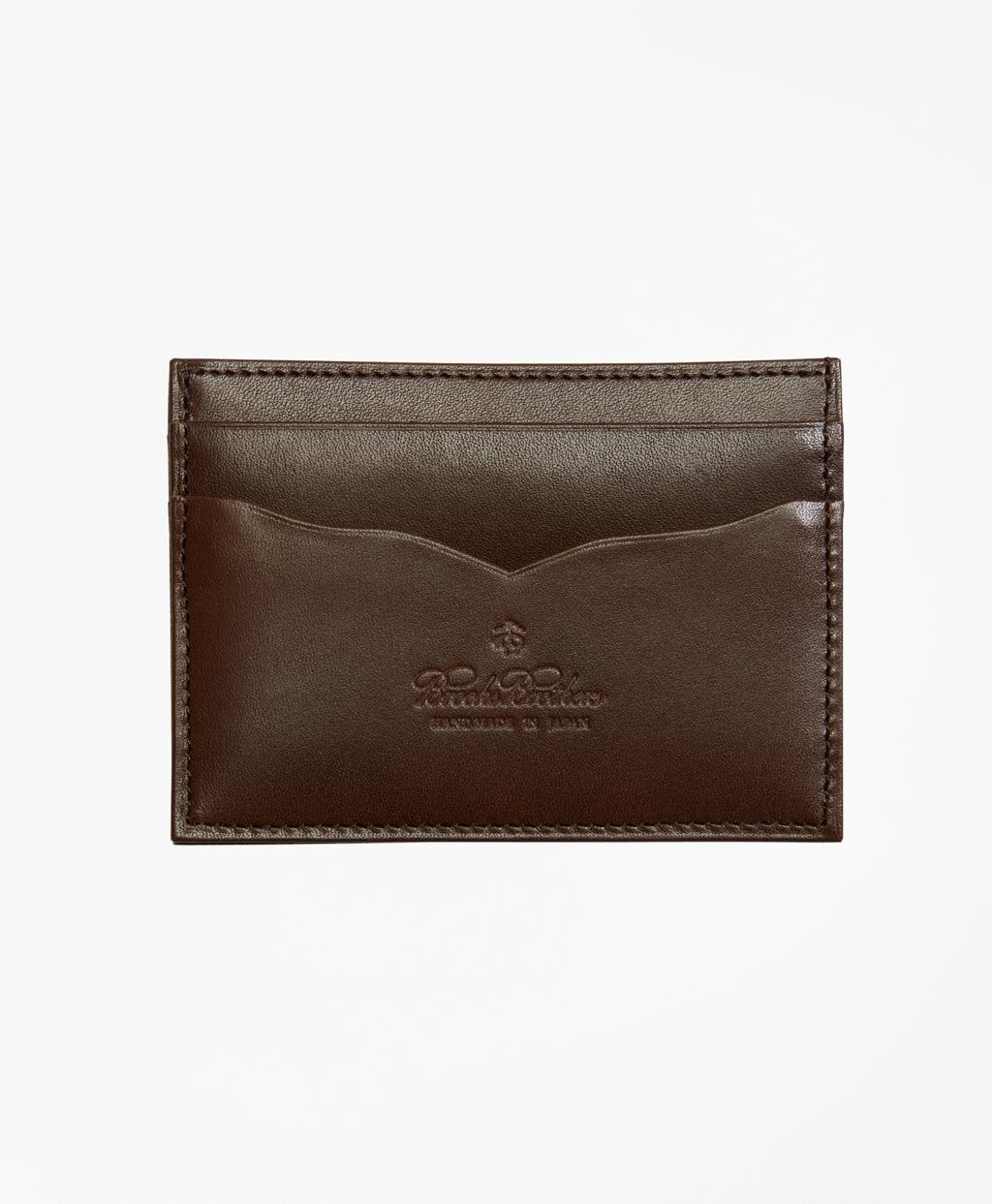 37b5bc1835c Lyst - Brooks Brothers Saffiano Leather Card Case in Brown for Men
