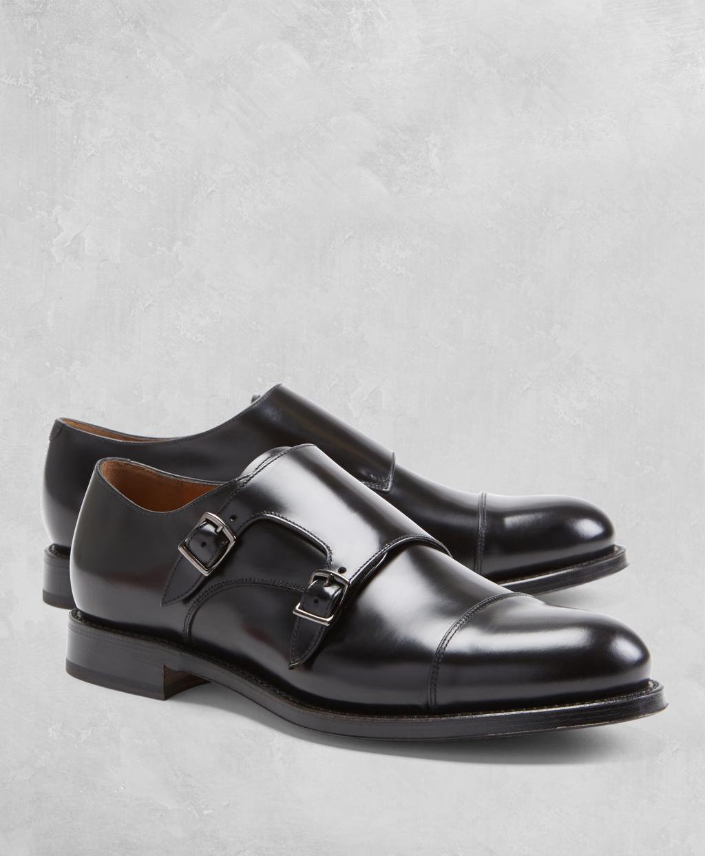 35dc193c2c509 Lyst - Brooks Brothers Golden Fleece Double Monk Straps in Black for Men
