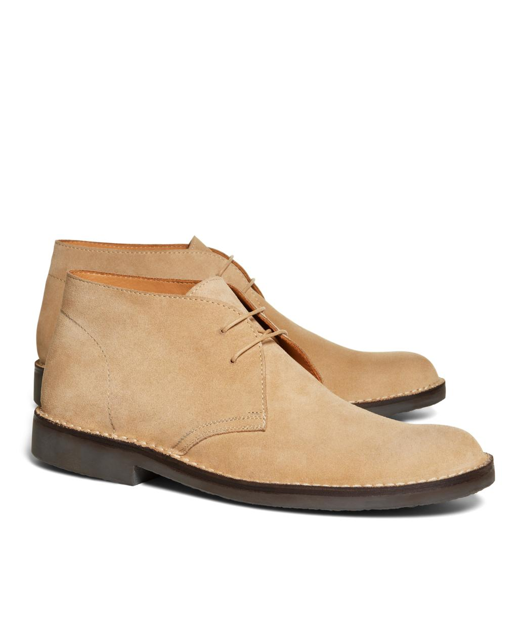 1edaa7a3d0c Lyst - Brooks Brothers Field Chukka Boots in Natural for Men