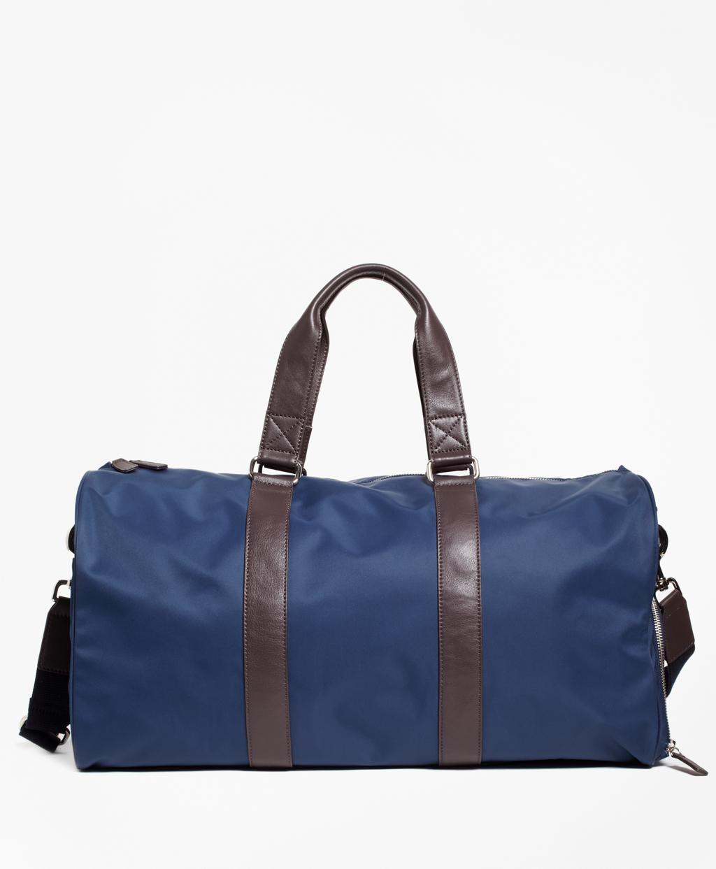 Brooks Brothers Men S Blue Nylon Duffel Bag