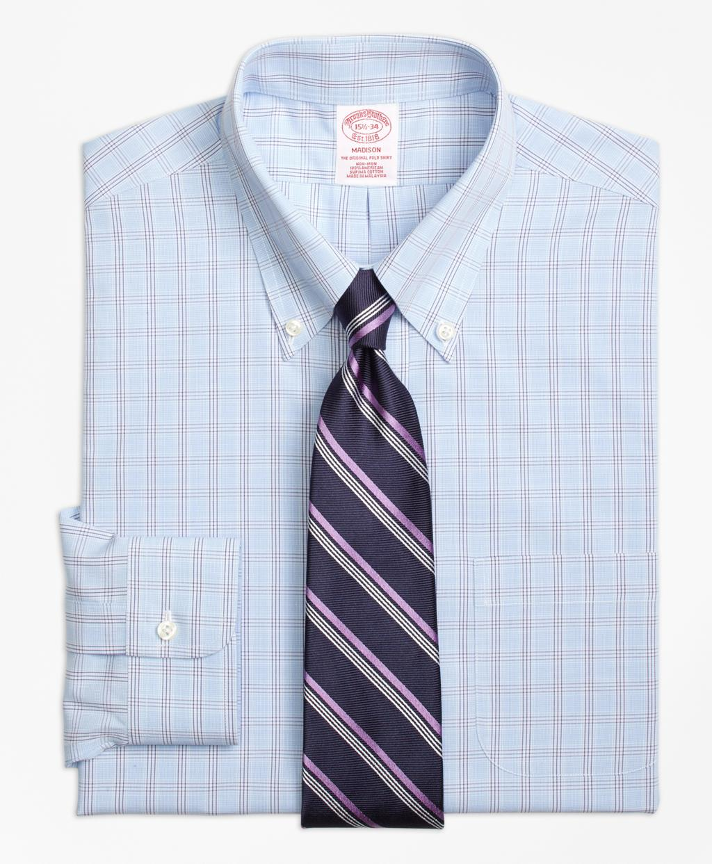 Brooks brothers non iron madison fit houndstooth triple for Brooks brothers non iron shirts review