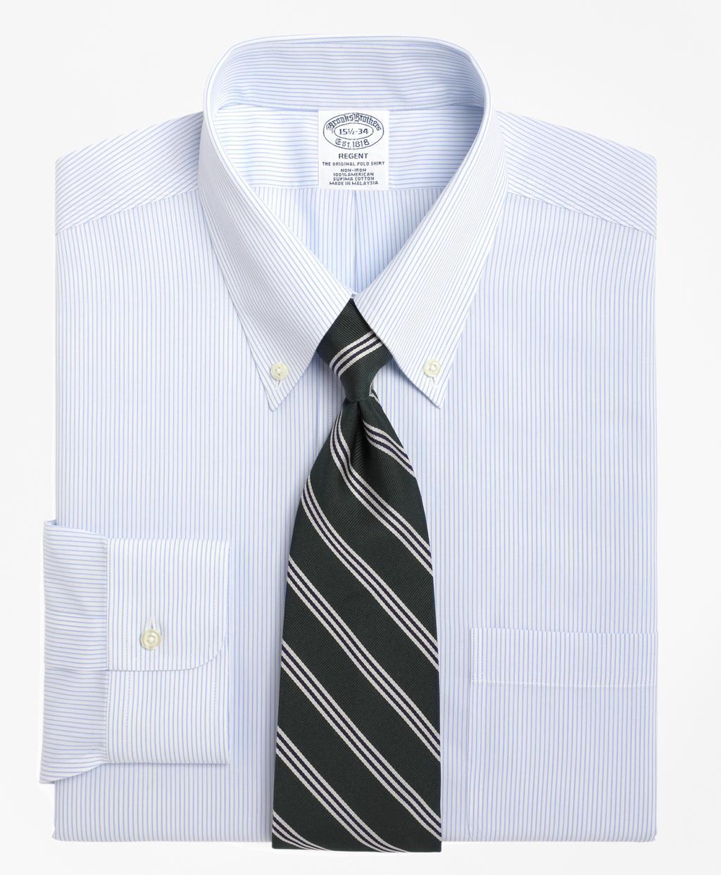 Brooks Brothers Non Iron Regent Fit Mini Pinstripe Dress