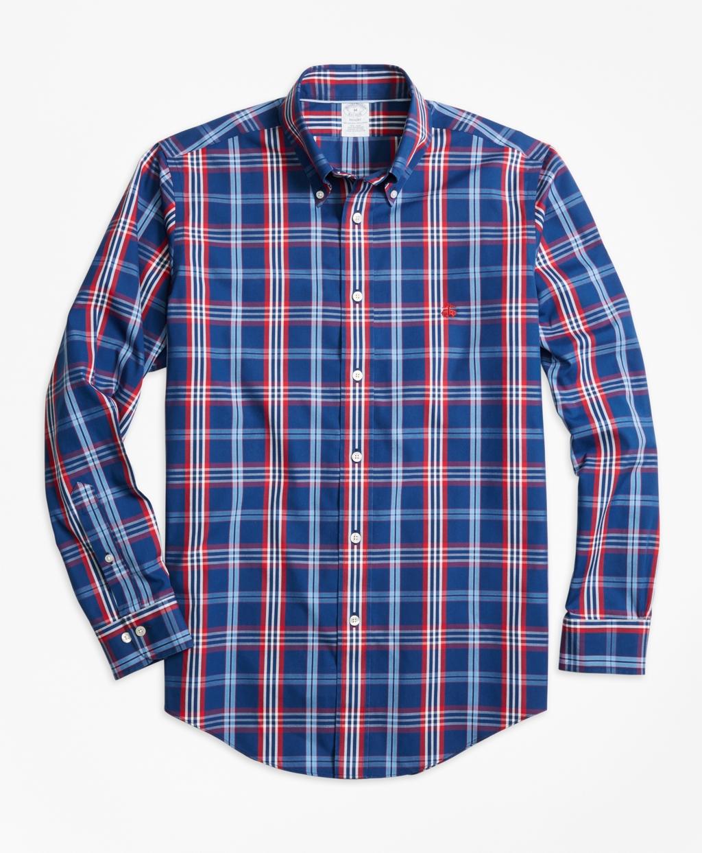 Brooks brothers non iron regent fit signature tartan sport for Brooks brothers non iron shirts review