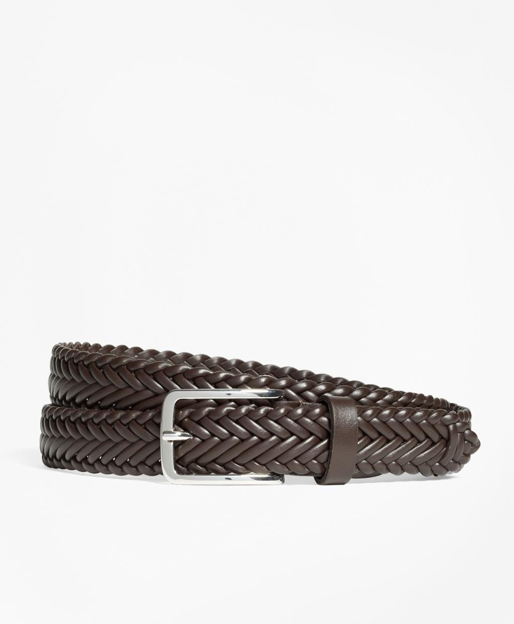 brothers soft braided belt in brown for lyst
