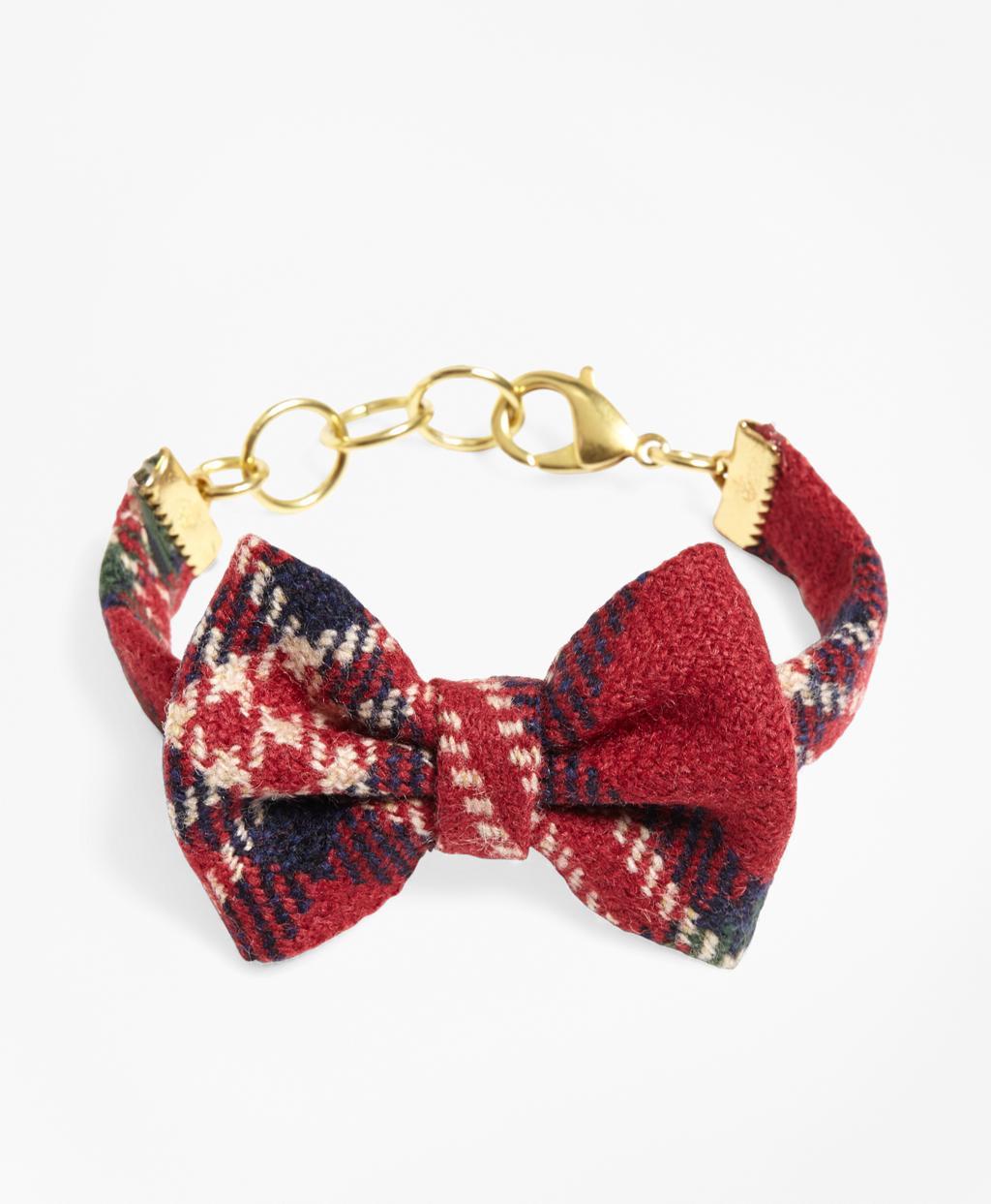e1c55f1e914e Lyst - Brooks Brothers Kiel James Patrick Tartan Bow Tie Bracelet in Red