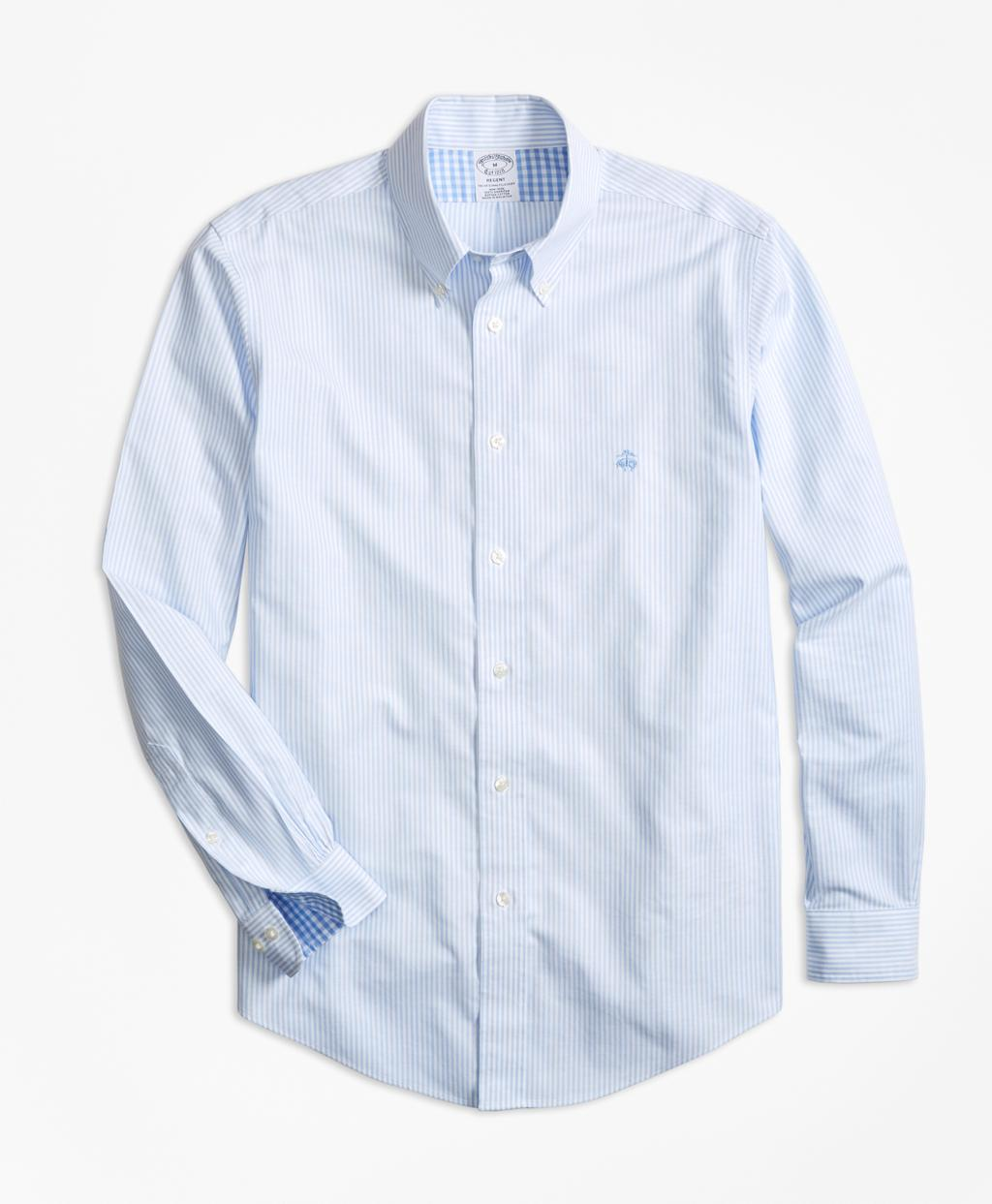 Lyst brooks brothers non iron regent fit stripe sport for Brooks brothers non iron shirts review