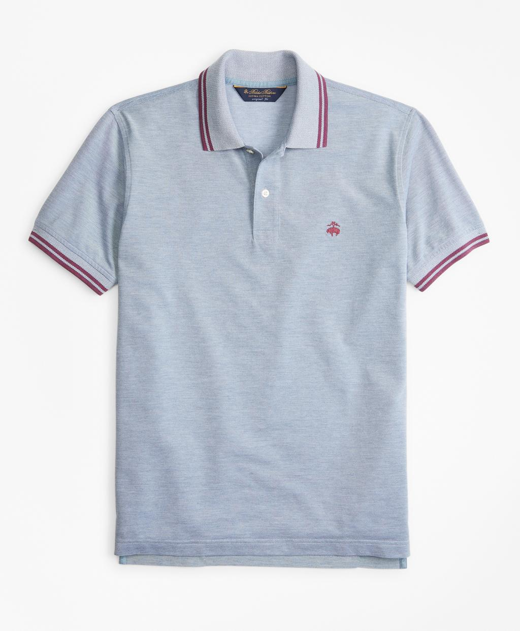 f256ea63758d Lyst - Brooks Brothers Original Fit Vintage Tennis Polo in Blue for ...
