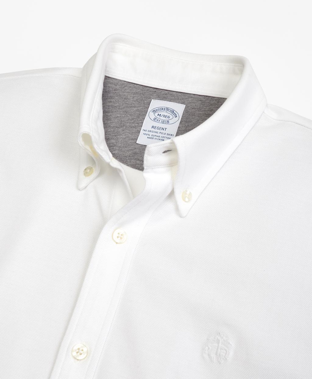 Brooks Brothers Mens Regent Fit Textured Supima Cotton Button Down Shirt Medium Grey Large//Reg