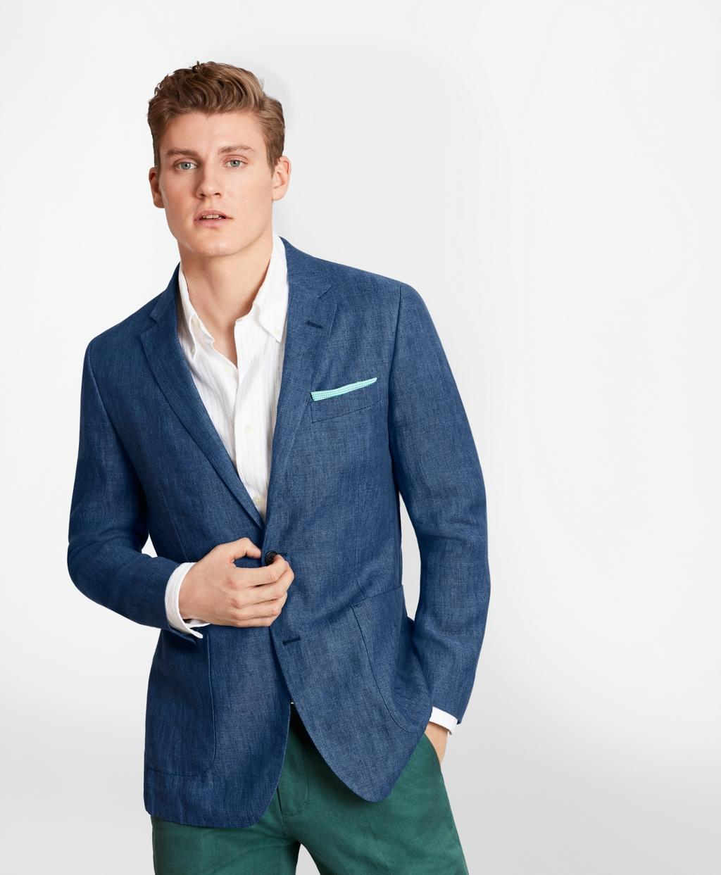 ce52f2f9e4a Lyst - Brooks Brothers Milano Fit Linen Patch Pocket Sport Coat in ...