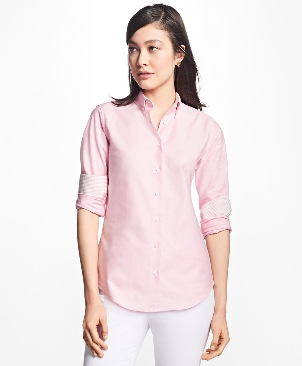f3bd9174d9e Brooks Brothers. Women s Pink Classic-fit Supima® Cotton Oxford Button-down  Shirt