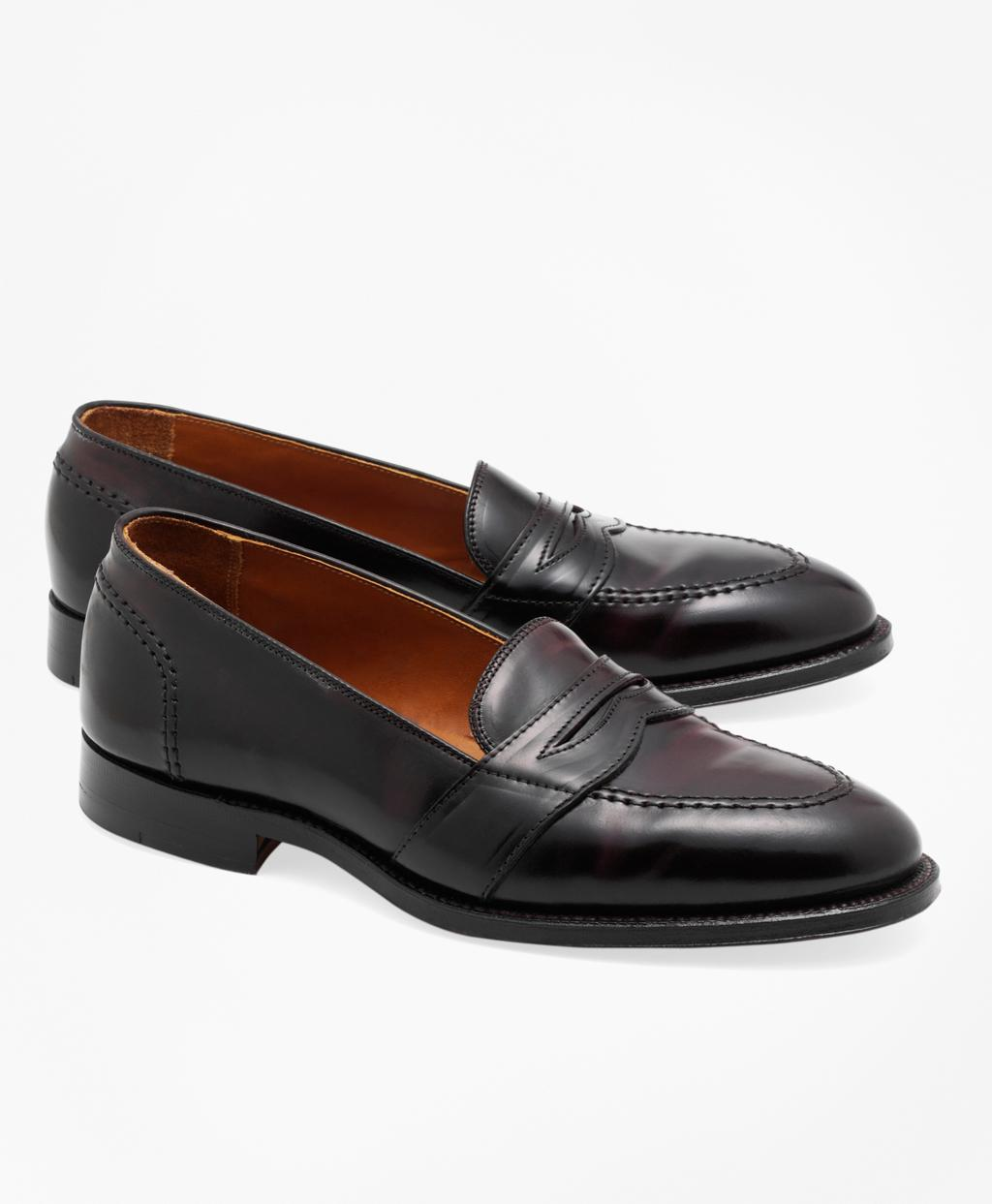 5dab0f69da3 Lyst - Brooks Brothers Cordovan Low Vamp Loafers in Red for Men