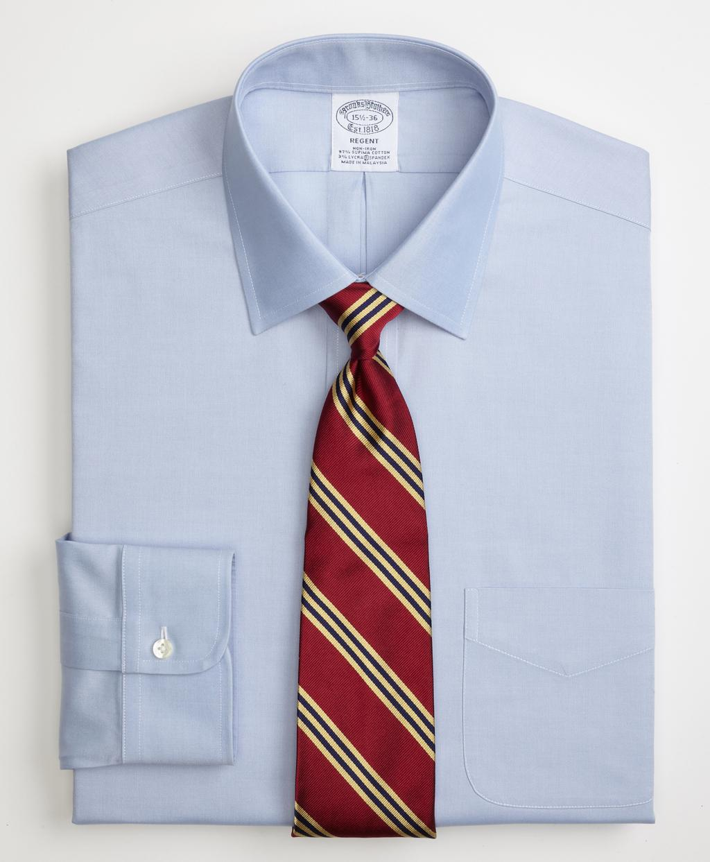 Brooks brothers non iron regent fit spread collar stretch for How to stretch a dress shirt