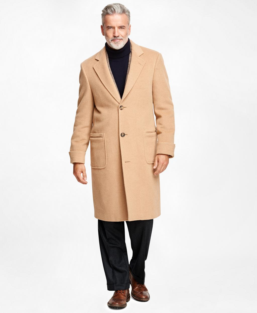 670b2aded168c Lyst - Brooks Brothers Golden Fleece Single-breasted Polo Coat in Natural  for Men
