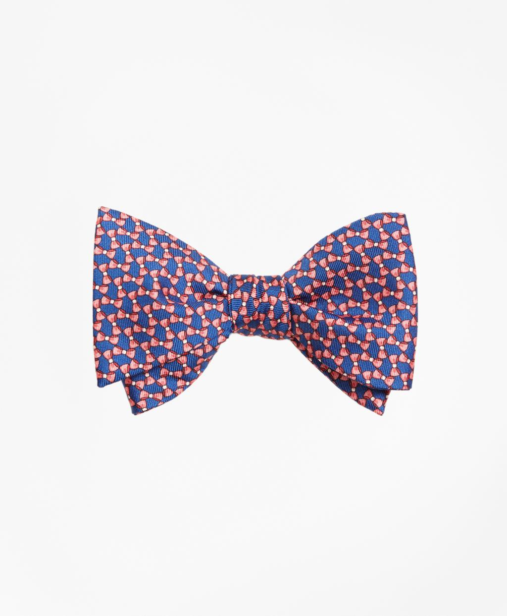 Lyst - Brooks brothers Bow Tie Motif Bow Print Tie in Pink ...