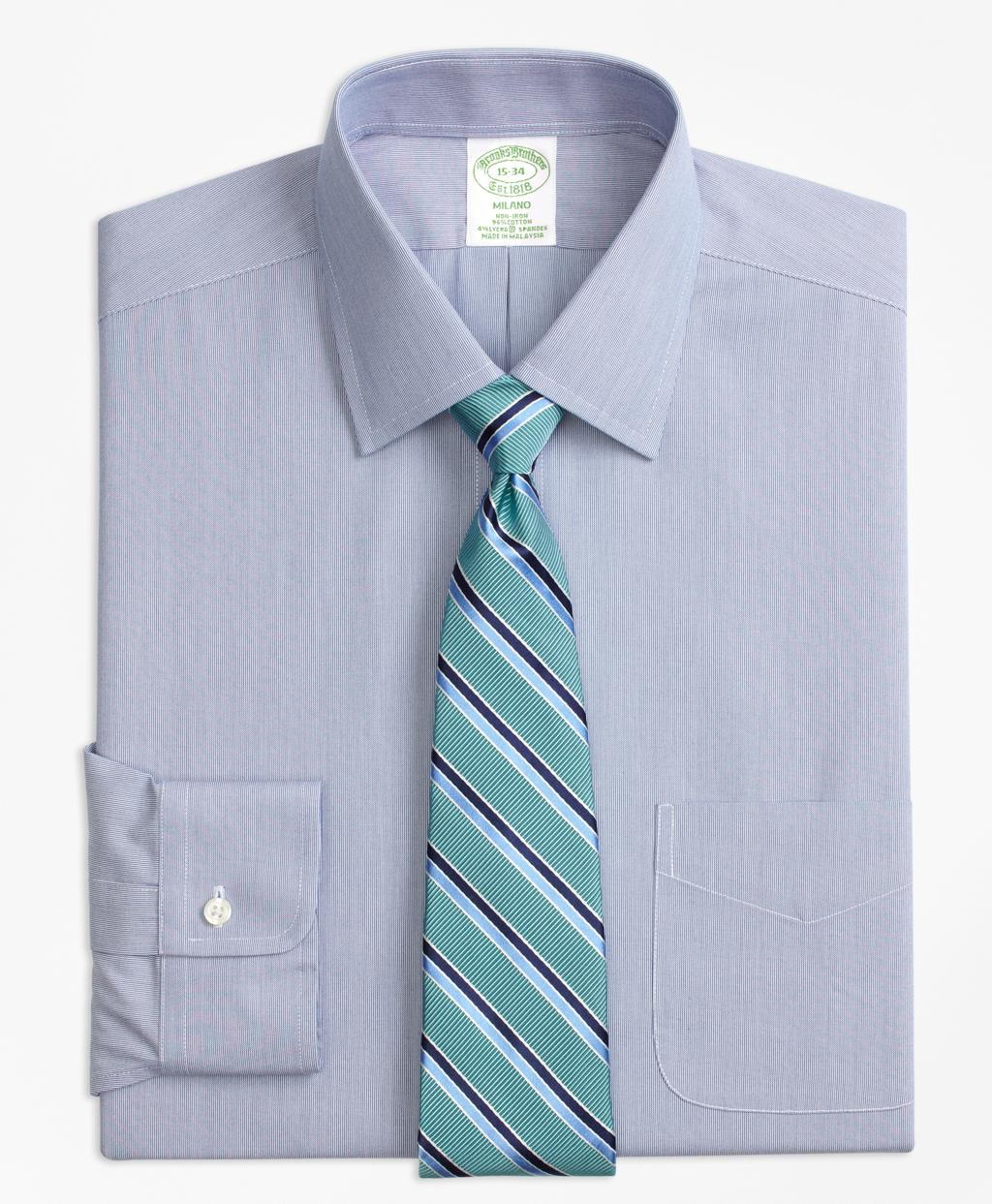 Brooks brothers stretch milano slim fit dress shirt non for Brooks brothers non iron shirts review