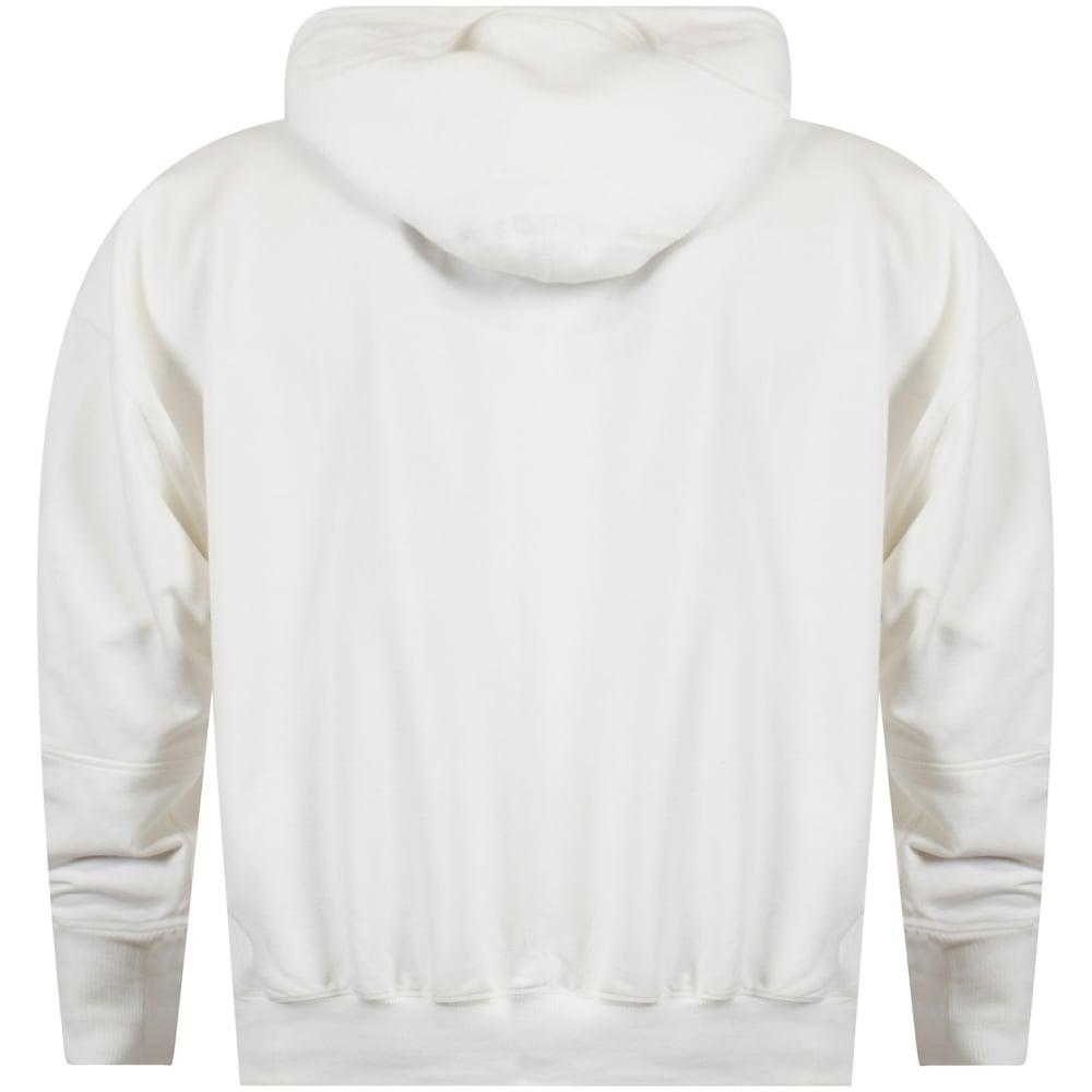 f04390f85c494 Y-3 White Sleeve Detailing Pullover Hoodie in White for Men - Lyst