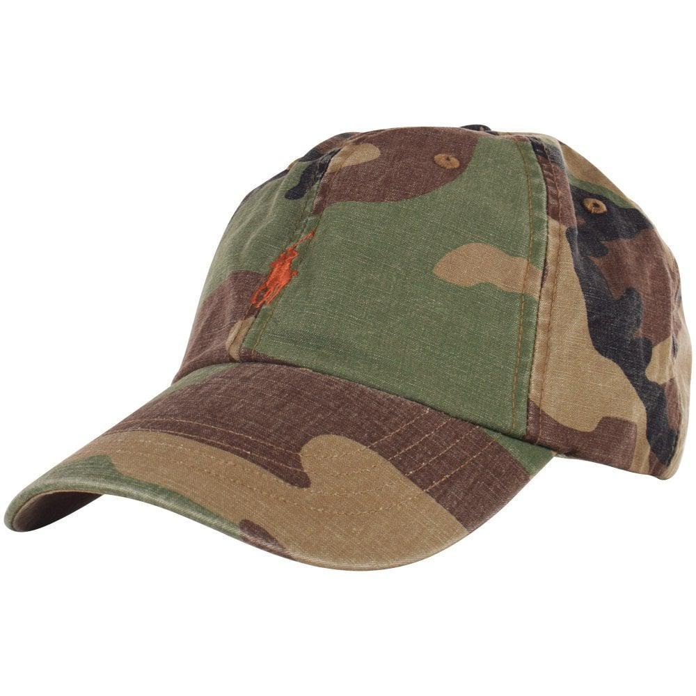 7ce0ef4173d8a Lyst - Polo Ralph Lauren Camo Canvas Baseball Cap in Green for Men